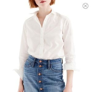 J. Crew Perfect Fit White Button Down